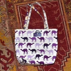 KATE SPADE Daycation Bon Shopper Camel Purple TOTE